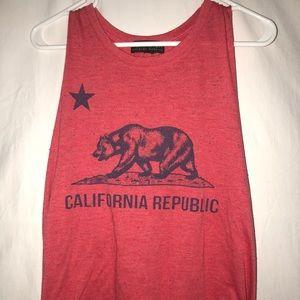 Red California tank